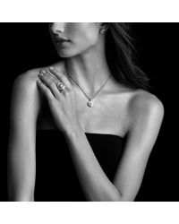 David Yurman - Metallic Pearl Crossover Ring with Diamonds in Gold - Lyst