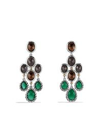 David Yurman | Metallic Semiprecious Multistone Sterling Silver Chandelier Earrings | Lyst