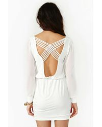 Nasty Gal | White Lily Lattice Dress - Ivory | Lyst