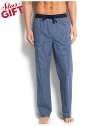 Tommy Hilfiger - Men'S Blueberry Check Woven Pajama Bottoms for Men - Lyst