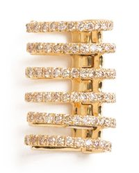 Elise Dray - Metallic Diamonds Rib Cage Earcuff - Lyst