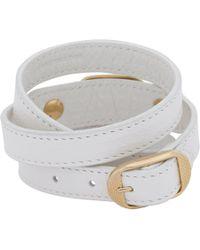 Balenciaga - White Arena Giant Wrap Bracelet - Lyst