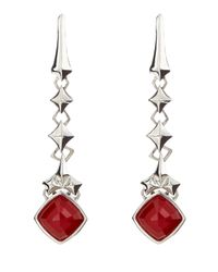 Stephen Webster | Red Studded Coral Drop Earrings | Lyst