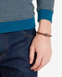 Ted Baker | Brown Woven Leather Bracelet for Men | Lyst