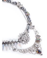 Assad Mounser | Blue Iridescent Spike Rhinestone Necklace | Lyst