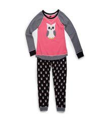 Kensie | Black Patterned Two Piece Pajama Set | Lyst