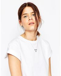 ASOS - Metallic Open Triangle Necklace - Lyst