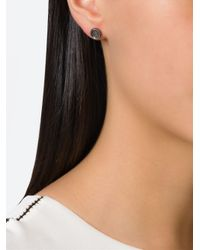 Rosa Maria - Black Small Embellished Earrings - Lyst