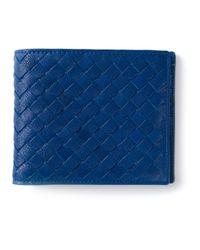 Bottega Veneta | Blue Woven Bifold Wallet for Men | Lyst