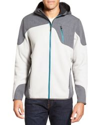 Spyder | Black Zip Front Mixed Media Jacket for Men | Lyst