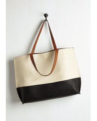 Triple 7 - Natural Colorblock And Stroll Bag In Monochrome - Lyst