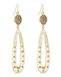 Ashley Pittman | Metallic Shimo Earrings With Labradorite | Lyst