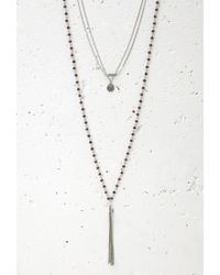 Forever 21 | Metallic Charm And Fringe Necklace Set | Lyst