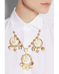 Dolce & Gabbana - Metallic Gold-tone Charm Necklace - Lyst