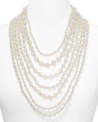 R.j. Graziano - White Multi Strand Long Necklace 1832 - Lyst