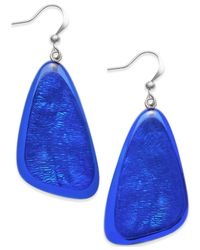 Style & Co. | Blue Shell Drop Earrings | Lyst