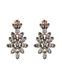 Oscar de la Renta | Black Pearl P Stud Earrings | Lyst