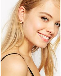 ASOS - Metallic Facteted Bead Swing Earrings - Lyst