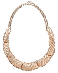 Macy's | Metallic Bronzarte Segmented Collar Necklace In 18k Rose Gold Over Bronze | Lyst