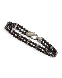 Stephen Webster | Black Rayman 2-row Onyx-bead Bracelet | Lyst