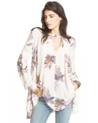 Free People - White 'tree Swing' High/low Top - Lyst