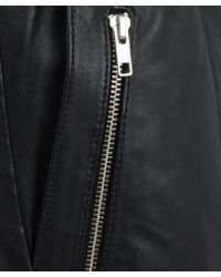 OAK - Black Rider Zip Detail Leather Sweatpants - Lyst
