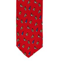 Forever 21 | Red Sailboat Print Tie for Men | Lyst