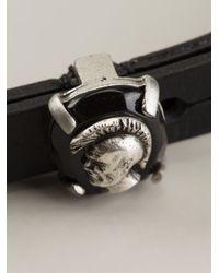 DIESEL   Black 'anys' Strap Bracelet   Lyst