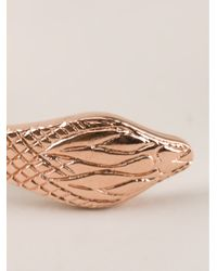 Genevieve Jones - Metallic Snake Head Bracelet - Lyst