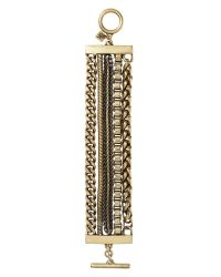 Banana Republic - Metallic Chain Line Bracelet - Lyst