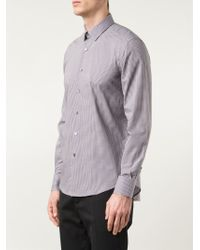 Lanvin - Black Micro Check Shirt for Men - Lyst