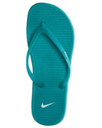 Nike - Blue Women's Solarsoft Thong Ii Sandals From Finish Line - Lyst