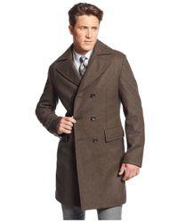 Michael Kors | Brown Michael Eden Classic-fit Overcoat for Men | Lyst
