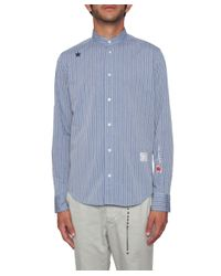 Saucony - Blue Striped Cotton Shirt for Men - Lyst