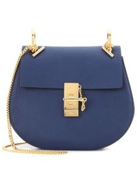 Chloé - Blue Drew Leather Shoulder Bag - Lyst