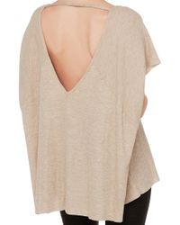 AKIRA - Natural Flowing Breeze Oatmeal Top - Lyst