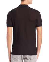 Versace - Brown Geometric Print Polo for Men - Lyst