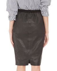 Isabel Marant - Black Devon Leather Pencil Skirt - Lyst