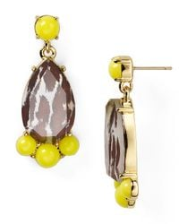 Kate Spade | Yellow Day Tripper Bauble Earrings | Lyst