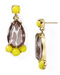 kate spade new york | Yellow Day Tripper Bauble Earrings | Lyst