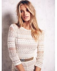Free People - White Lace Romper - Lyst