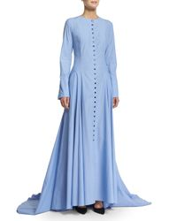 Rosie Assoulin - Blue The Franciscan Button-front Maxi Dress - Lyst