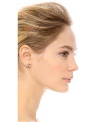 Gorjana | Pink Chloe Large Stud Earrings Rose Gold | Lyst