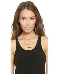 House of Harlow 1960 | Chrysalis Double Drop Necklace - Black | Lyst