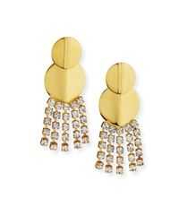 Lizzie Fortunato | Metallic Imperial City Crystal Chain Earrings | Lyst