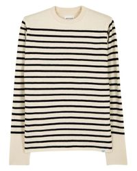 Norse Projects - Blue Verner Navy And Ecru Striped Wool Jumper for Men - Lyst