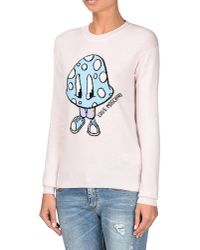 Love Moschino | Natural Long Sleeve Sweater | Lyst