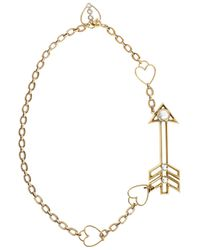 Lanvin | Metallic Gold Tone Arrow Pendant Necklace | Lyst