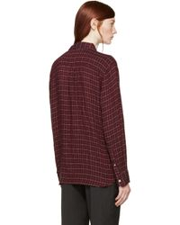 Étoile Isabel Marant - Purple Prune Check Long Tap Dance Shirt - Lyst