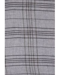 Ermenegildo Zegna | Gray Plaid Scarf for Men | Lyst